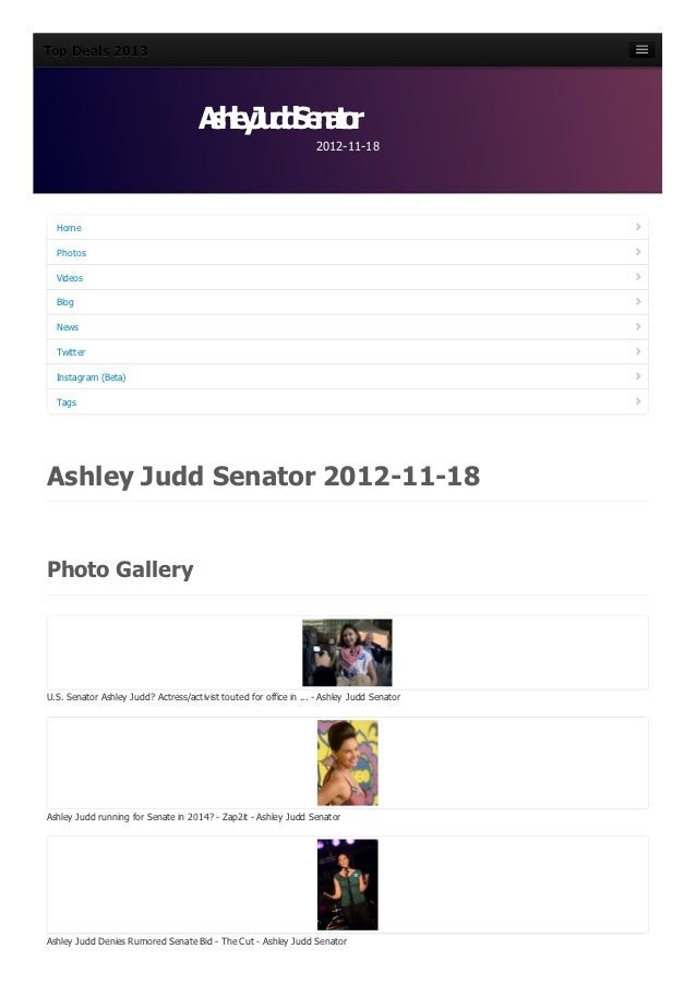 Ashley judd-senator