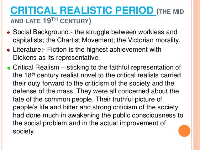 """the era of realism and criticism in american literature English 743: studies in later american literature """"american literary realism"""" course description: 1885 has been considered the annus mirabilis of american literary realism."""