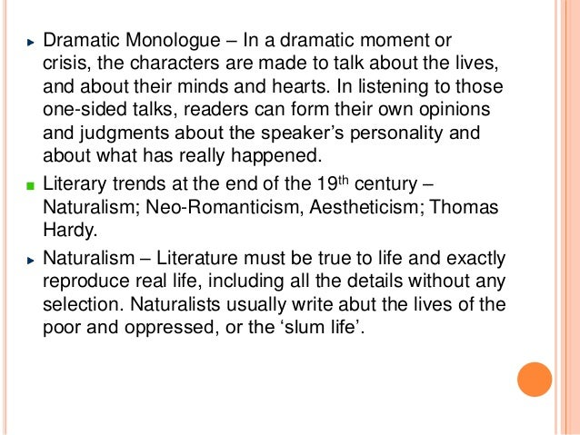 monologues definition example essay