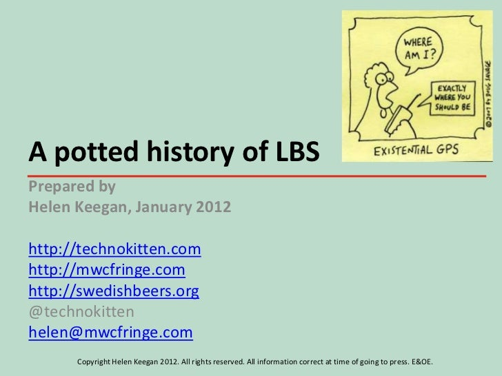 A potted history of LBSPrepared byHelen Keegan, January 2012http://technokitten.comhttp://mwcfringe.comhttp://swedishbeers...