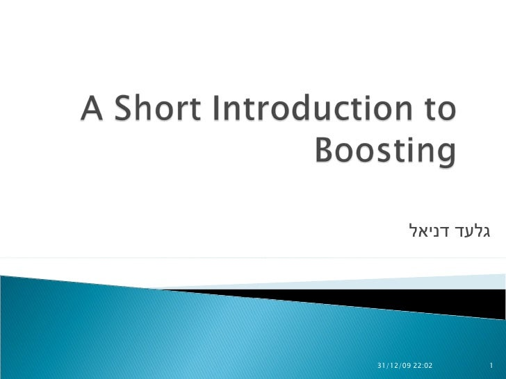 A Short Introduction To Boosting.Final V3.Ppt