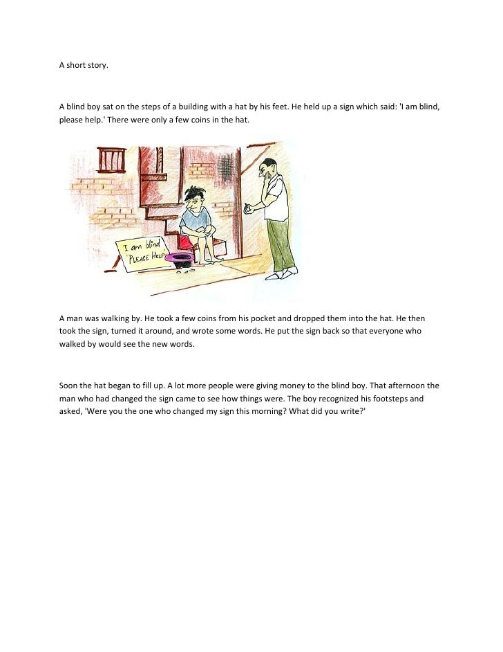 A Short Story Of Blind Boy