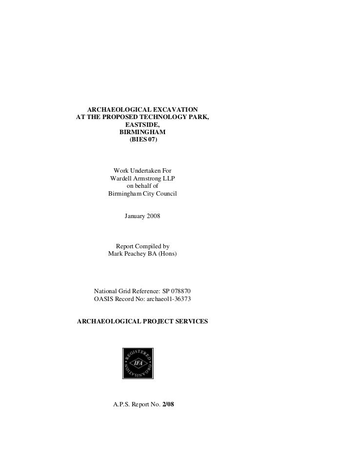 Ashted archaeological report