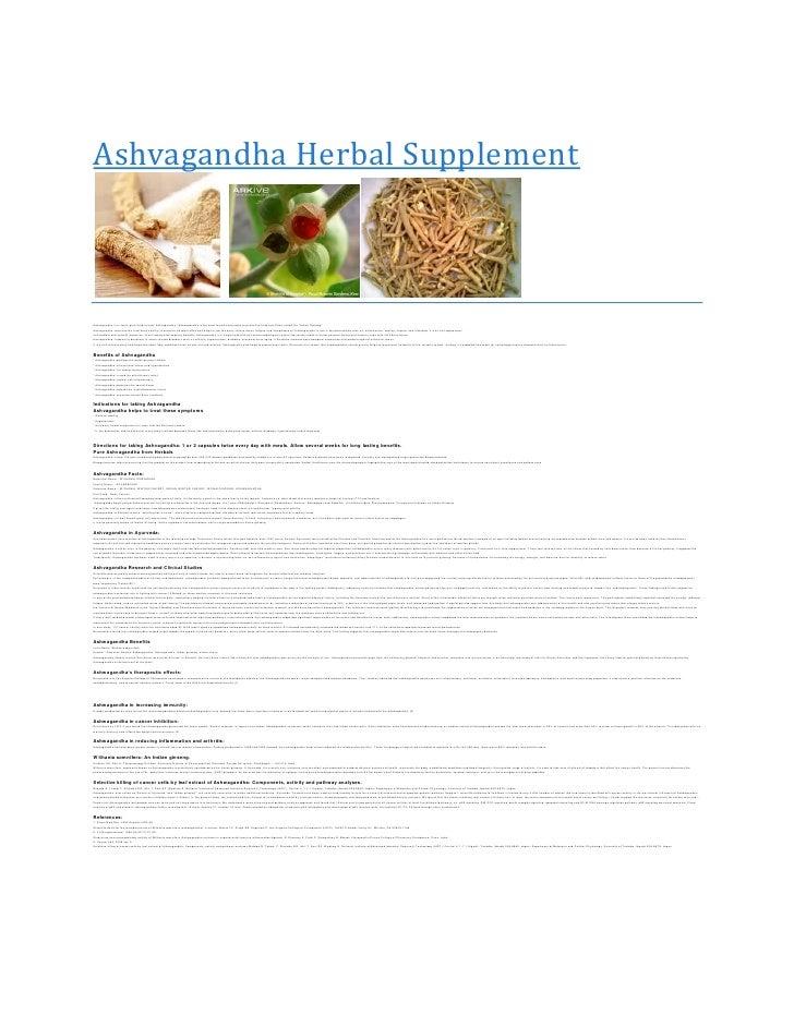 Ashvagandha Herbal SupplementAshvagandha is in fact a pure herb extract. Ashvagandha / Ashwagandha is the most famous ayur...