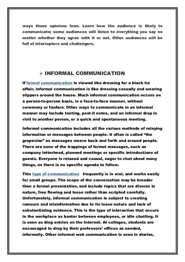 Communication Essay Example