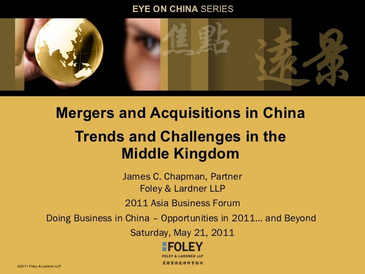 Asia Business Forum Mergers And Acquisitions In China 5 21 11
