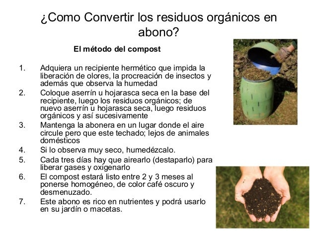 Pasos para hacer abono org nicos - Hacer abono organico ...