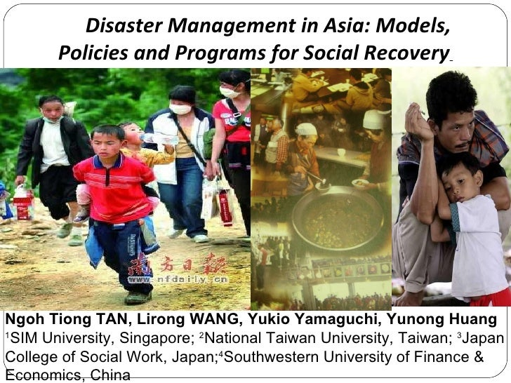 Disaster Management in Asia: Models, Policies and Programmes for Social Recovery