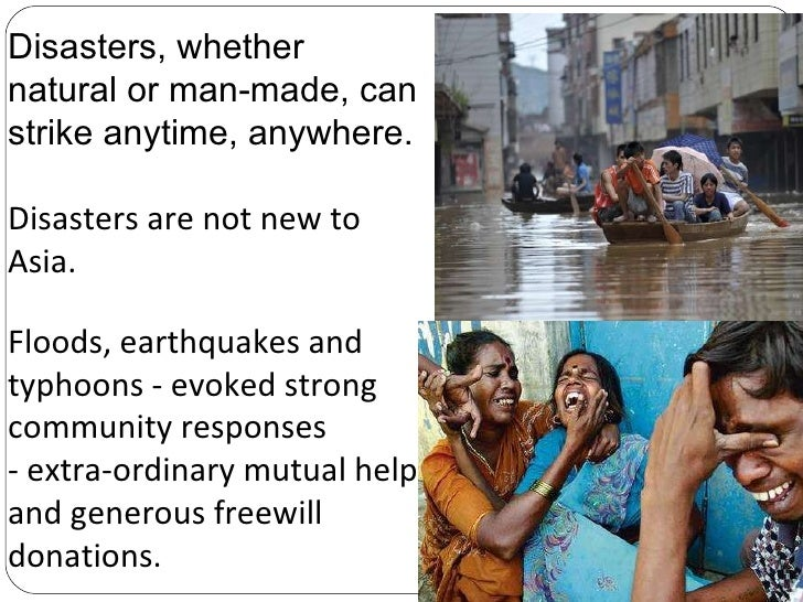 impacts of a natural or man made disaster tourism essay A specific disaster may spawn a secondary disaster that increases the impact as with natural hazards, man-made hazards are events that essays in philosophy.