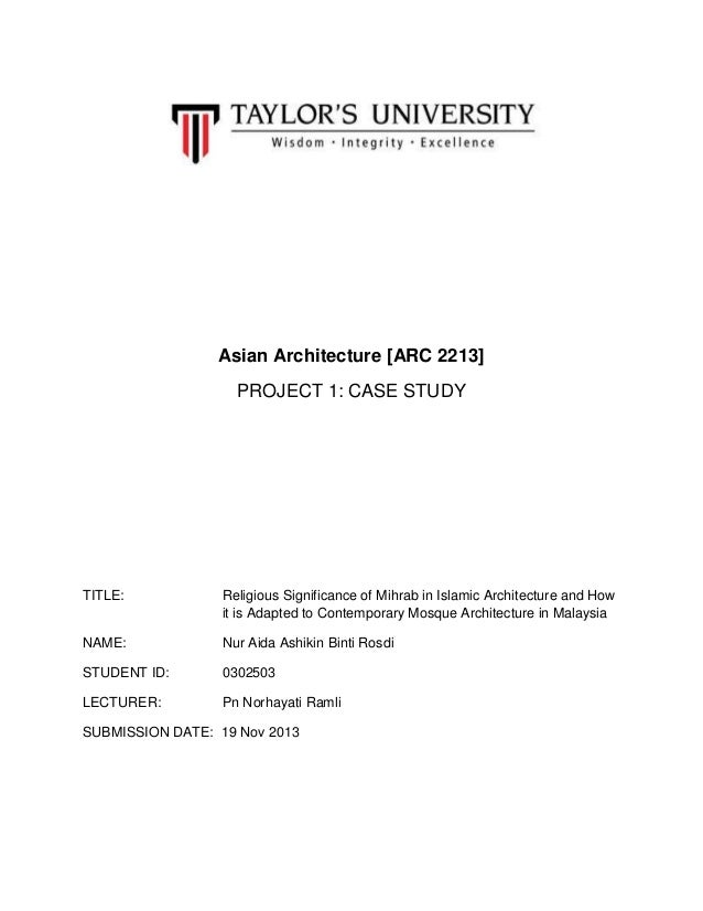 Asian architecture final report