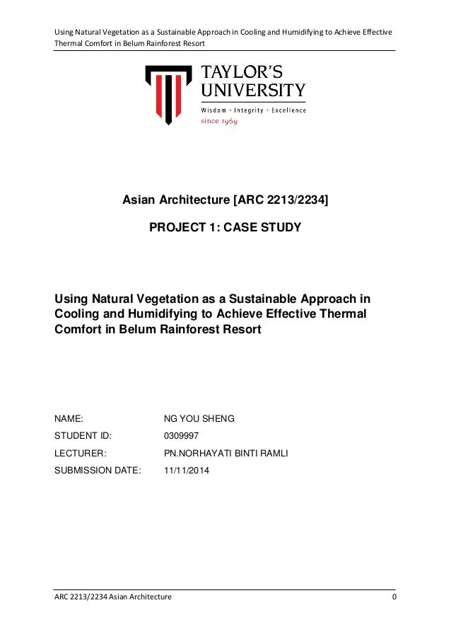 Research paper on green architecture