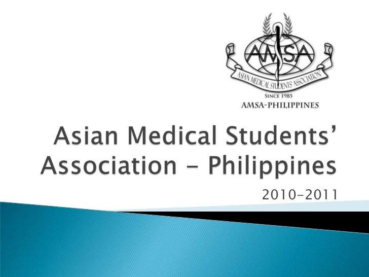 AMSA Philippines 2010-2011