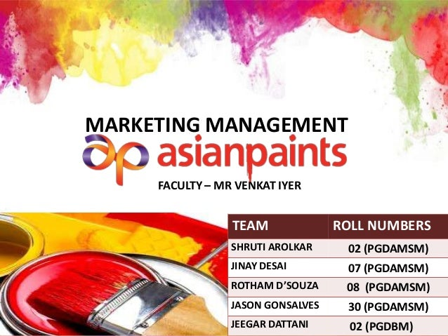 marketing strategy of asian paints ppt Contents asian paints - mission & vision industry trends historical information & current performance competitive positioning (swot) marketing strategies, channels & promotions.