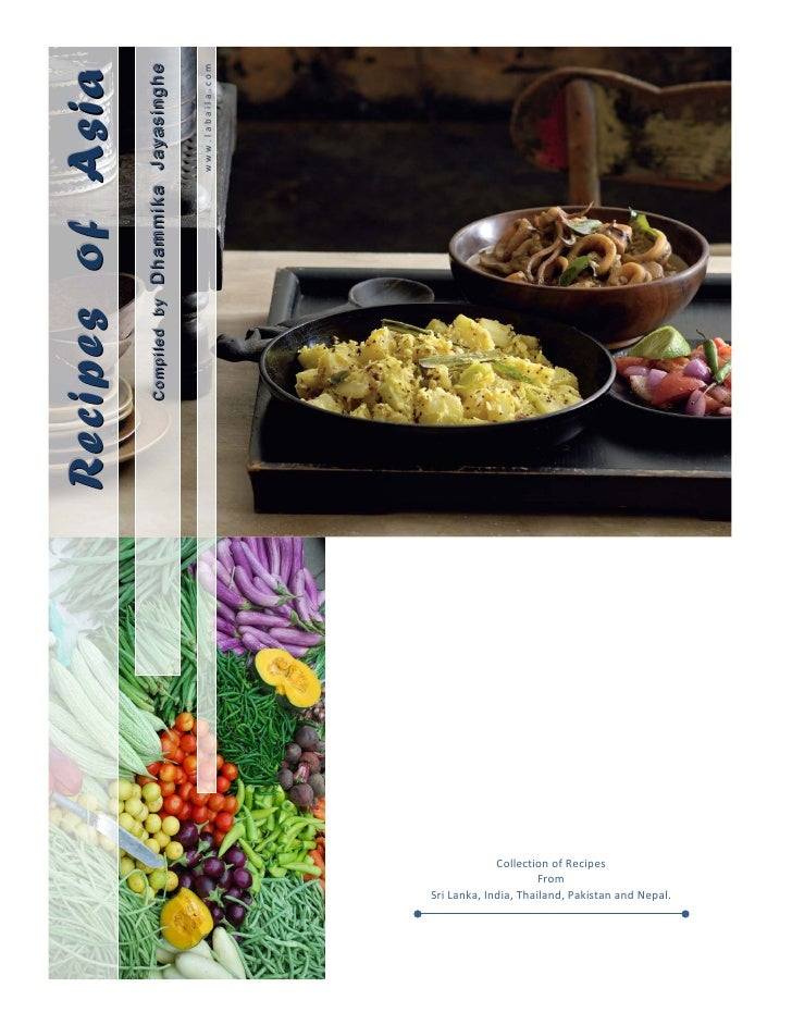Recipes of Asia                                                     Comp ed by                                            ...