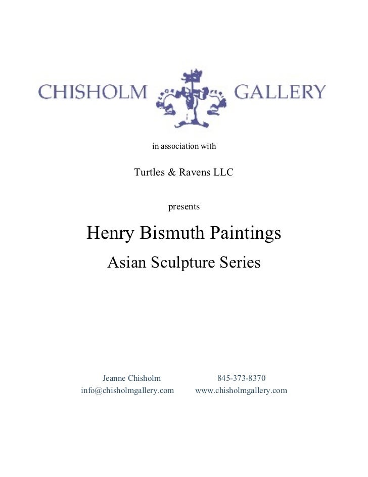 in association with  in association with Turtles & Ravens LLC presents Henry Bismuth Paintings Asian Sculpture Series Jean...