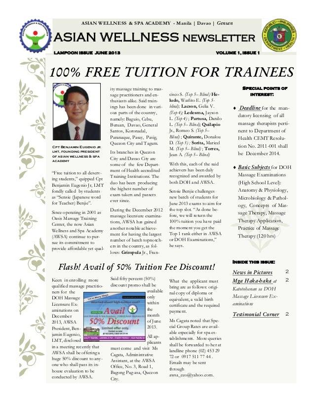 ASIAN WELLNESS NEWSLETTER JUNE 2013