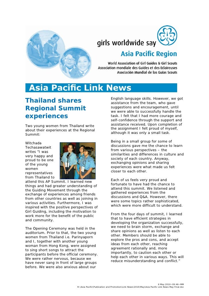 Asia Pacific Link News May 2010