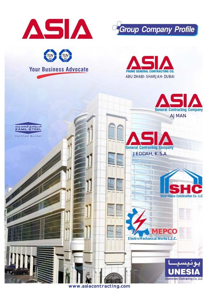 Group Company Profile                     ABU DHABI- SHARJAH- DUBAI                                                AJMAN  ...