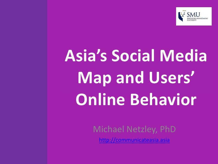 Asia's social media map and users' online (june 2010)