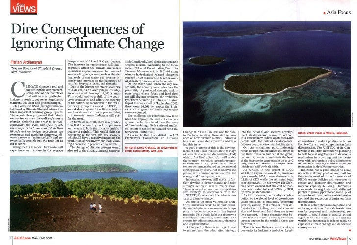Dire Consequences of Ignoring Climate Change