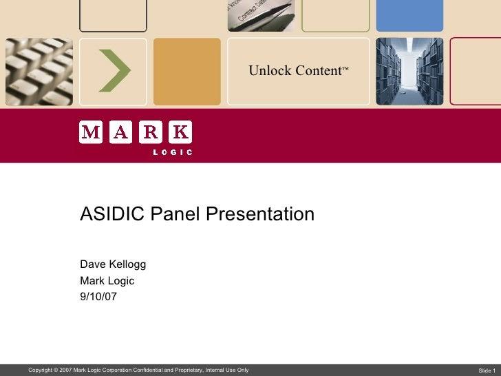 Asidic Panel Presentation
