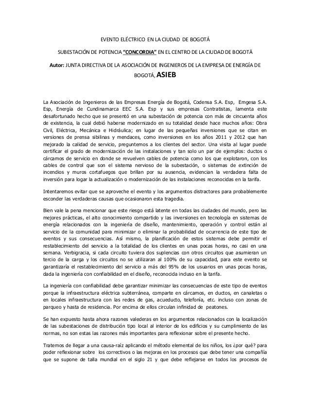 """EVENTO ELÉCTRICO EN LA CIUDAD DE BOGOTÁ SUBESTACIÓN DE POTENCIA """"CONCORDIA"""" EN EL CENTRO DE LA CIUDAD DE BOGOTÄ Autor: JUN..."""