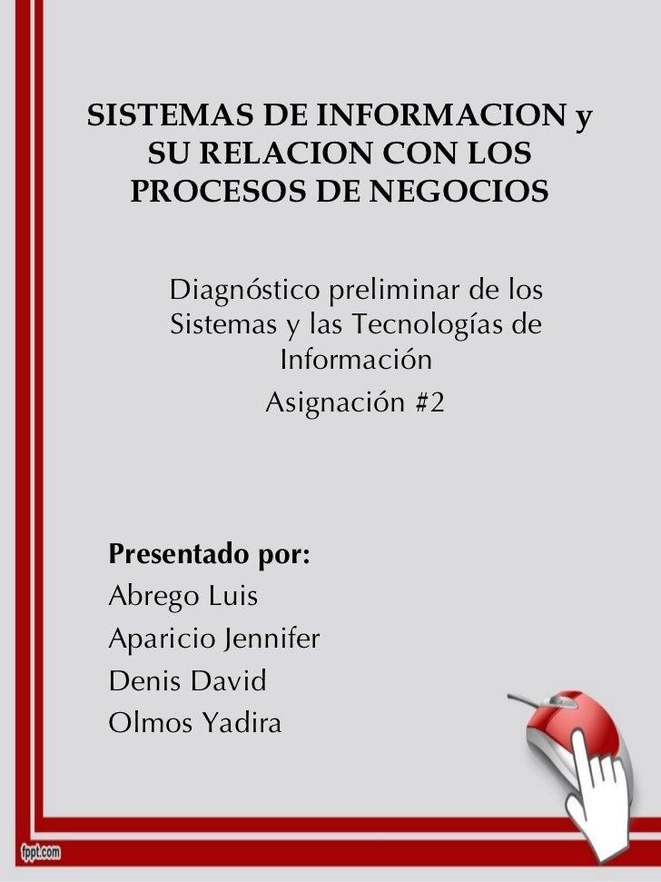 SISTEMAS DE INFORMACION y SU RELACION CON LOS PROCESOS DE NEGOCIOS