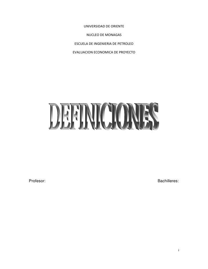 UNIVERSIDAD DE ORIENTE                   NUCLEO DE MONAGAS            ESCUELA DE INGENIERIA DE PETROLEO            EVALUAC...