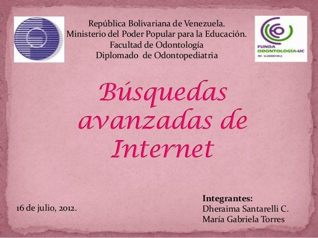 República Bolivariana de Venezuela.              Ministerio del Poder Popular para la Educación.                         F...