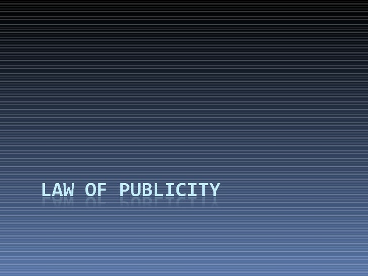 law of publicity