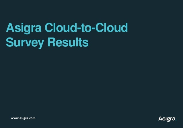 Asigra Cloud-to-CloudSurvey Resultswww.asigra.com