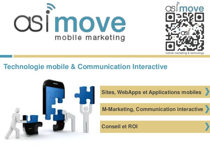Technologie mobile & Communication Interactive                           Sites, WebApps et Applications mobiles           ...