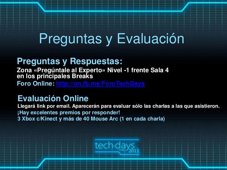 Preguntas y EvaluaciónPreguntas y Respuestas:Zona «Pregúntale al Experto» Nivel -1 frente Sala 4en los principales BreaksF...