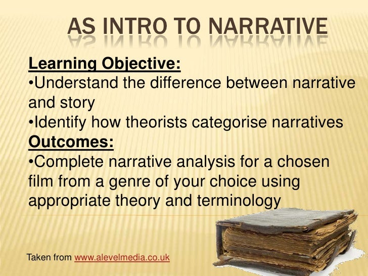AS Intro to Narrative<br />Learning Objective:<br /><ul><li>Understand the difference between narrative and story