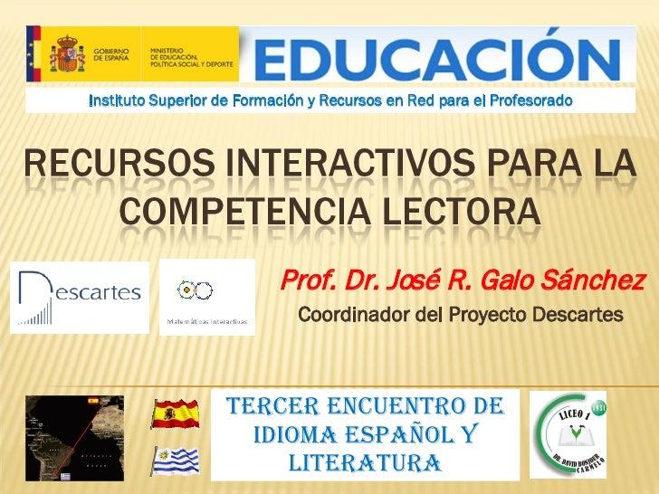 Recursos interactivos para la competencia lectora