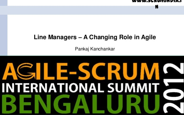 Line Managers - A Changing Role in Agile