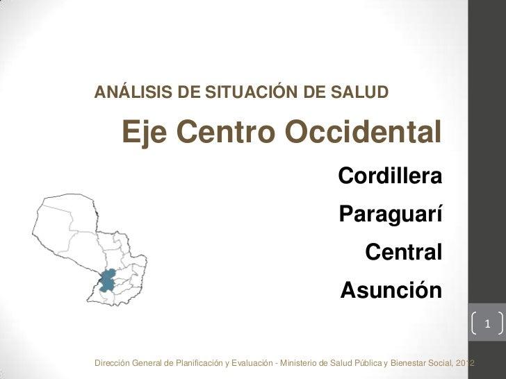 Analisis de situacion de salud Paraguay Eje Centro Occidental indicadores