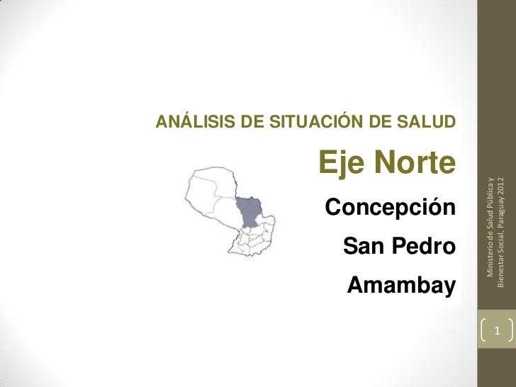 ANÁLISIS DE SITUACIÓN DE SALUD                Eje Norte                                    Ministerio de Salud Pública y  ...