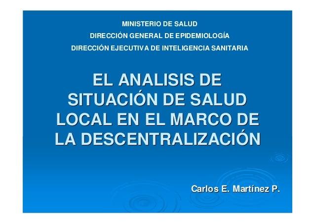 Asis local y la descentralizacion