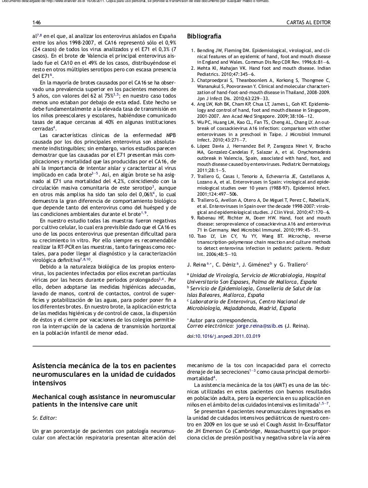 Asistencia mecánica de la tos en pacientes neuromusculares
