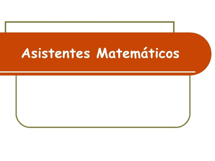 Asistentes MatemáTicos