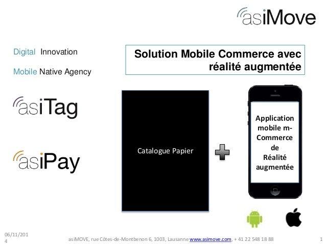 Digital Innovation  Mobile Native Agency  Solution Mobile Commerce avec  Catalogue Papier  réalité augmentée  Application ...