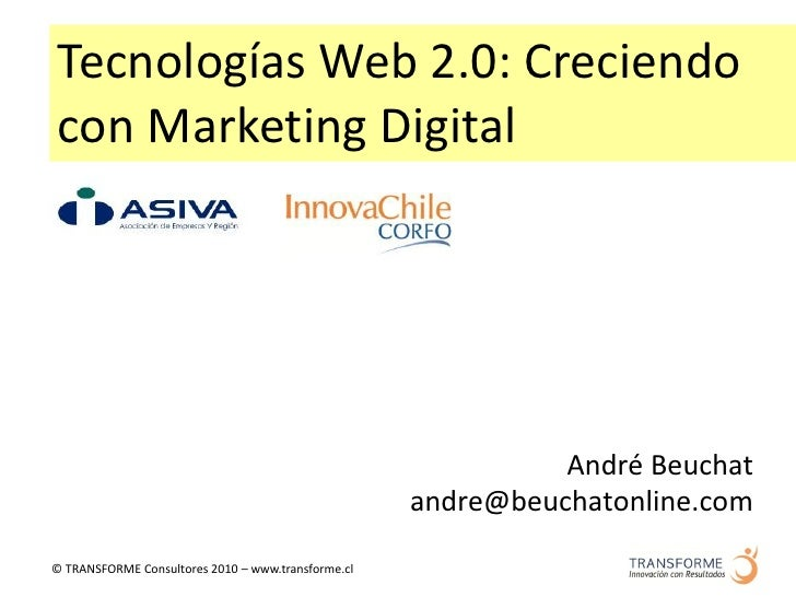 Asiva Marketing Digital 28.04.2010   Presentacion Andre Beuchat