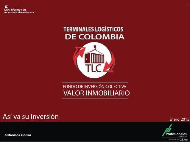 """Fondo Inmobiliario FONDO DE INVERSIÓN COLECTIVA VALOR INMOBILIARIO 25Años ! """" Así va su inversión Enero 2015"""