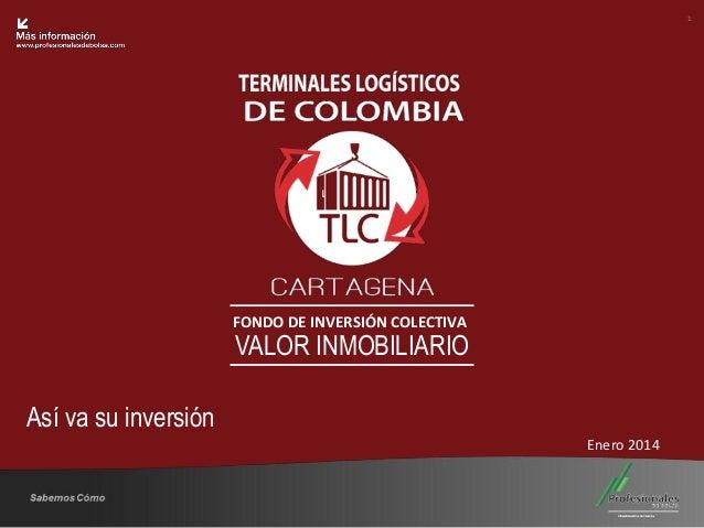 1  Fondo Inmobiliario  FONDO DE INVERSIÓN COLECTIVA  VALOR INMOBILIARIO  Así va su inversión Enero 2014  Sabemos Cómo  25 ...