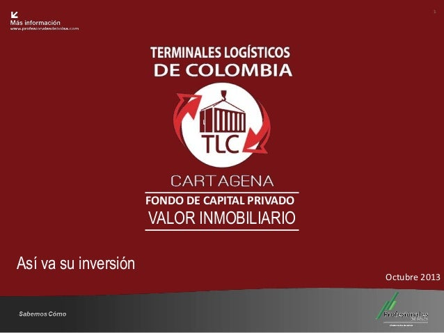 1  Fondo Inmobiliario  FONDO DE CAPITAL PRIVADO  VALOR INMOBILIARIO Así va su inversión  Octubre 2013  Sabemos Cómo  25 Añ...