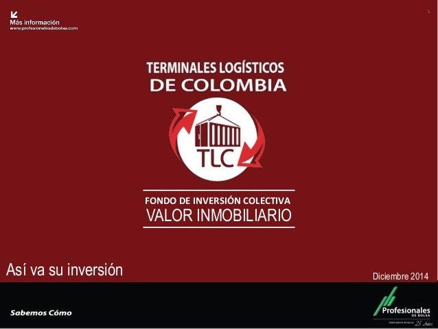 Fondo Inmobiliario  FONDO DE INVERSIÓN COLECTIVA  VALOR INMOBILIARIO  25 Años  1  Así va su inversión  Diciembre 2014