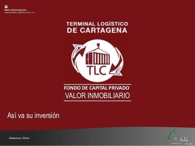 1 Fondo Inmobiliario                      FONDO DE CAPITAL PRIVADO                      VALOR INMOBILIARIOAsí va su invers...