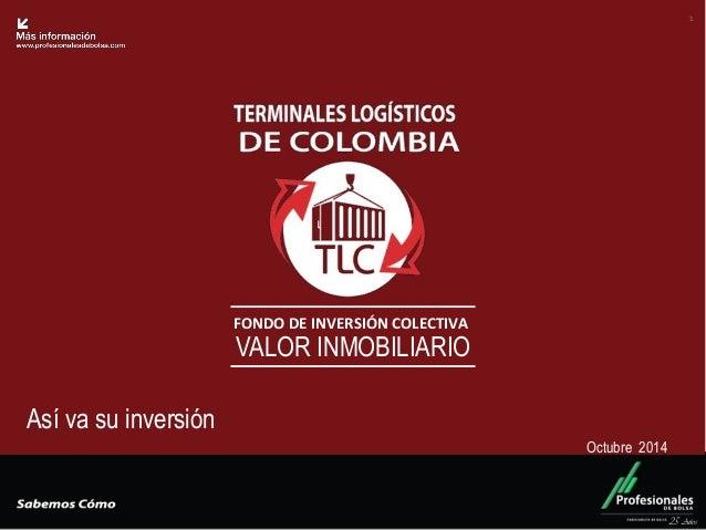 Fondo Inmobiliario  FONDO DE INVERSIÓN COLECTIVA  VALOR INMOBILIARIO  25 Años  1  Así va su inversión  Octubre 2014
