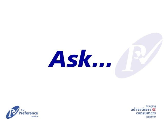 Ask: consumer driven marketing